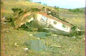 1986 Mozambican Tupolev Tu-134 crash - The aircraft struck hilly terrain and broke up, killing 34 of the 44 persons on-board