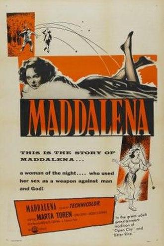Maddalena (1954 film) - Film poster