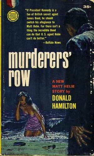 Murderers' Row (novel) - Original 1962 paperback cover