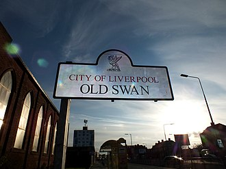 Old Swan - Image: Old Swan Welcome Sign