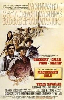 df53223e83ecc Original movie poster for the film Mackenna s Gold.jpg. Theatrical ...