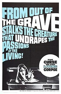 <i>The Curse of the Living Corpse</i> 1964 film by Del Tenney