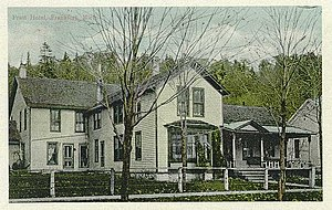 Frankfort, Michigan - The Pratt hotel postcard c. 1909