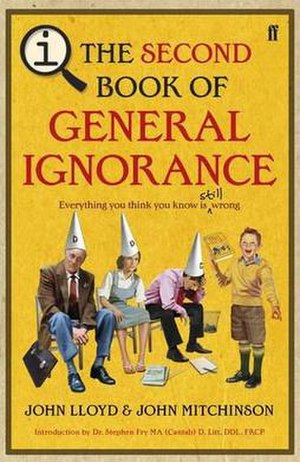 The Second Book of General Ignorance - The original UK cover.