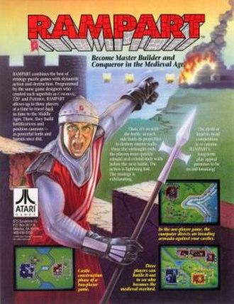Rampart (video game) - Arcade flyer art