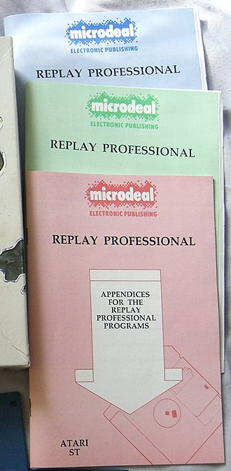 Replay Professional - Image: Replay manuals CIMG1210