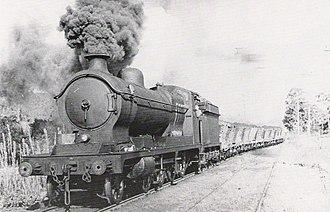 Richmond Vale railway line - ROD 2-8-0 locomotive hauling a loaded coal train on the Richmond Vale Railway