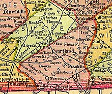 Geography Edit Southampton County From 1895 Map