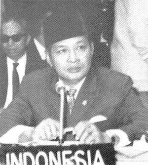 New Order (Indonesia) - Suharto attends 1970 meeting of the Non-Aligned Movement in Lusaka.