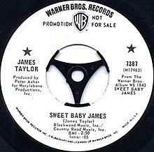 Sweet Baby James promo single label.jpg