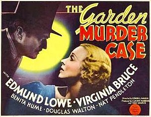 The Garden Murder Case (film) - theatrical poster