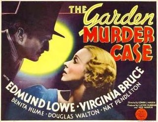 <i>The Garden Murder Case</i> (film) 1936 film by Edwin L. Marin