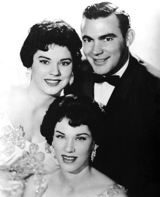 The Browns - Bonnie and Jim Ed (top) with Maxine in the late 1950s