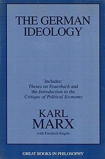 <i>The German Ideology</i> literary work by Karl Marx and Friedrich Engels