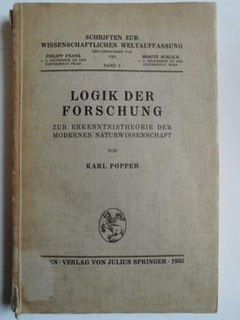 <i>The Logic of Scientific Discovery</i> 1959 book by Karl Popper