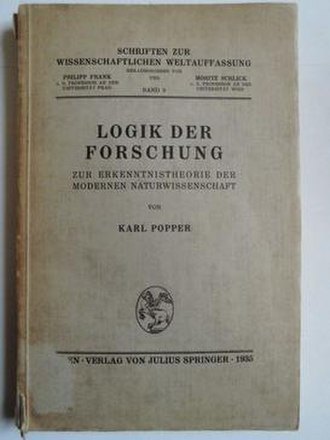 The Logic of Scientific Discovery - Cover of the first edition