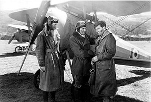 The Dawn Patrol (1930 film) - L-R: Douglas Fairbanks Jr., Richard Barthelmess and Gardner James