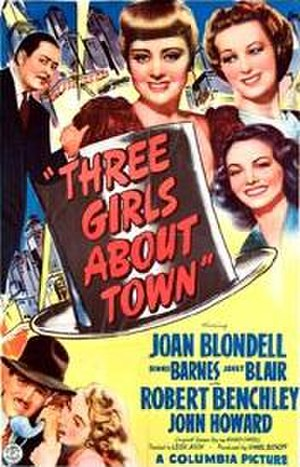 Three Girls About Town - Theatrical poster