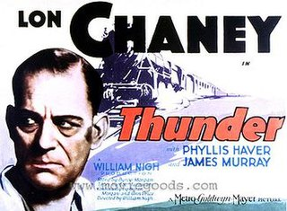 <i>Thunder</i> (film) 1929 American silent melodrama film directed by William Nigh