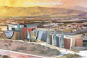 World Market Center Las Vegas - Artist rendering of the completed World Market Center Las Vegas complex, in Las Vegas