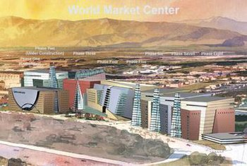 Artist rendering of the completed World Market...