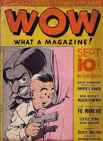 Will Eisner - Wow, What a Magazine! No. 3 (Sept. 1936): Cover art by a teenage Eisner.