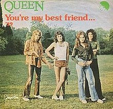 Image result for queen you're my best friend single images