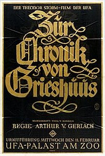 <i>Chronicles of the Gray House</i> 1925 film by Arthur von Gerlach