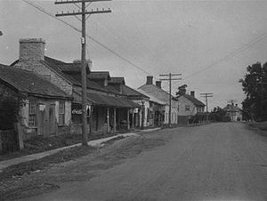 Ontario Highway 15 - Highway 15 near its southern terminus in Barriefield, circa 1920. This portion was bypassed in 1969 and is now known simply as Main Street.