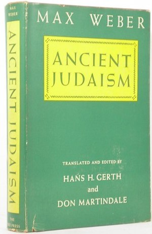 Ancient Judaism (book) - First English translation (publ. Free Press)