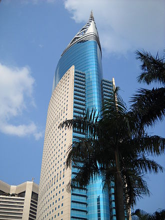 Architecture of Indonesia - Wisma 46 in post-modernist style, currently the second tallest building in Indonesia.