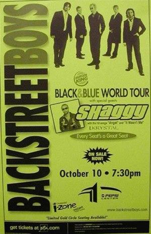 Black & Blue Tour - Image: B St Boys 2001Tour Poster