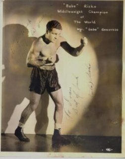 Eddie Babe Risko American boxer