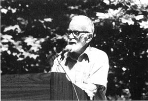 Bill Speidel - Bill Speidel at Klondike Gold Rush National Historical Park dedication, 1979