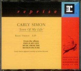 Love of My Life (Carly Simon song) - Image: Carly Simon Love Of My Life