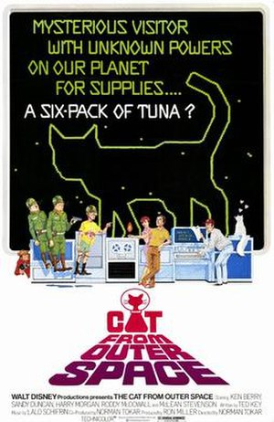 The Cat from Outer Space - Original poster