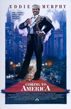 Coming to America - Theatrical release poster illustrated by Drew Struzan.