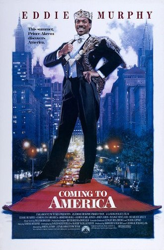 Coming to America - Theatrical release poster illustrated by Drew Struzan