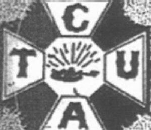 Commercial Telegraphers Union of America - Logo, Commercial Telegraphers Union of America. Source: Commercial Telegraphers Journal, June 1910, cover.