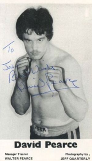 David Pearce (boxer) - Image: David 'Bomber' Pearce 1