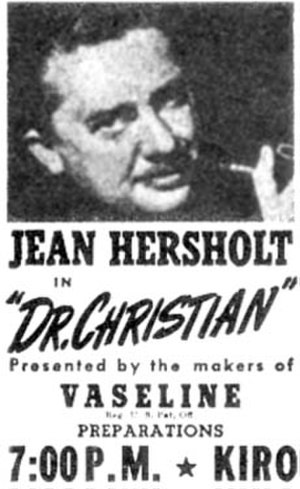 Jean Hersholt - Promotional flyer for Seattle station KIRO