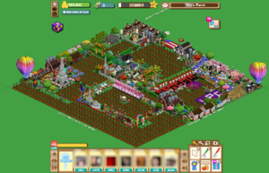 FarmVille - One player's customized farm.