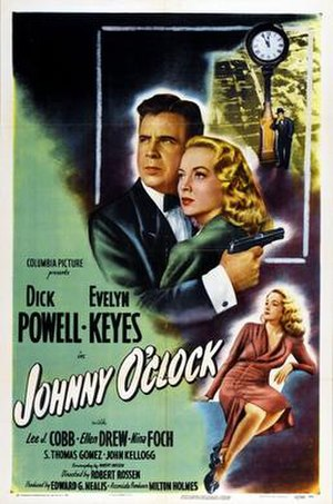 Johnny O'Clock - Theatrical release poster