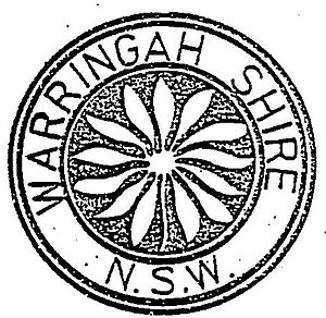 Warringah Council - Warringah Shire Council Seal, featuring a flannel flower, adopted by the council following its establishment.