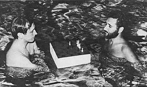 Larry Evans (chess grandmaster) - Evans (right) helping Fischer prepare for his World Championship match
