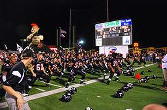 Trinity High School (Euless, Texas) - Players performing the Haka in the annual game versus L.D. Bell