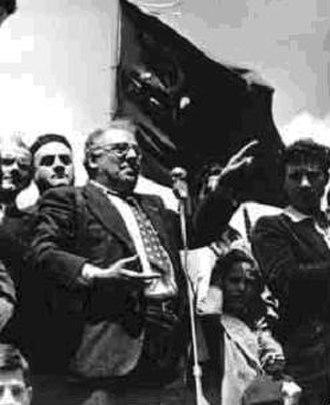 Portella della Ginestra massacre - Girolamo Li Causi addressing a commemorative meeting in Portella della Ginestra