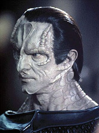 Cardassian - Gul Dukat (portrayed by Marc Alaimo), a prominent Cardassian character in Star Trek: Deep Space Nine.