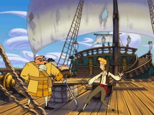 LucasArts adventure games - The cartoon graphics of The Curse of Monkey Island (1997) marked the pinnacle of SCUMM development