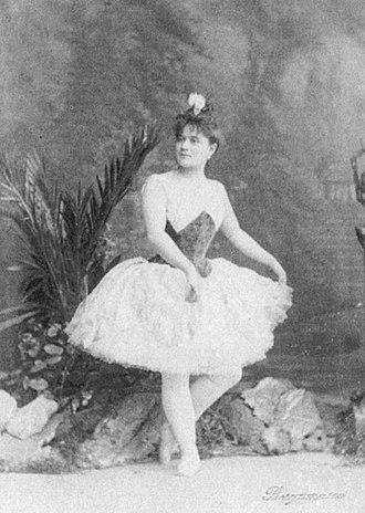The Harlem Tulip - Emma Bessone as Emma in the Ivanov/Fintinhof-Schell The Haarlem Tulip, St. Petersburg, 1887.